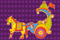Vector design of Happy Dussehra chariot