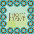Vector design for photo frame Royalty Free Stock Photo