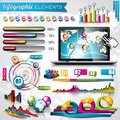 Vector design set of infographic elements world map and information graphics Stock Photo