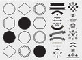 Vector design template set, collection for making badge, logo, stamp. Royalty Free Stock Photo
