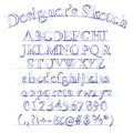 Vector designer sketch alphabet sketched font Stock Photography