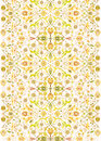 Vector designs floral decorations such grotesque warm colors patterns repeatable Stock Images