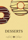 Vector dessert menu Stock Photos