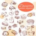 Vector Desserts Elements In Ha...