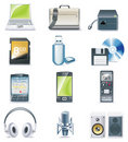 Vector detailed computer parts icon set. Part 3 Stock Photo