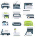 Vector detailed computer parts icon set. Part 4 Royalty Free Stock Images