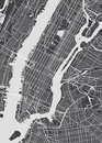 Vector detailed map New York Royalty Free Stock Photo