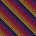 Vector diagonal stripes seamless pattern in bright colors. Retro 80-90's fashion
