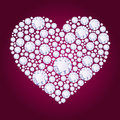 Vector diamond heart Royalty Free Stock Photo