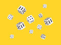Vector dices background for casino. Sharp edges. Flat style design. Royalty Free Stock Photo