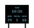 Vector digital electronic board with football or soccer score competition