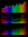 Vector digital gradient equalizer Royalty Free Stock Image