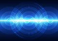 Vector digital sound wave technology, abstract background Royalty Free Stock Photo