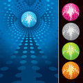 VECTOR - Disco glitter mirrorball Stock Photo