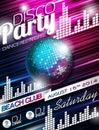 Vector Disco Party Flyer Desig...