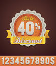 Vector discount badge Royalty Free Stock Photos