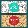 Vector discount or voucher template with mexican food