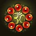 Vector diwali design with om symbol Royalty Free Stock Images