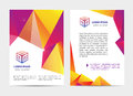 Vector document, letter or logo style cover brochure and letterhead template design mockup set for business