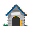 Vector dog house cute cartoon Stock Image