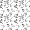 Vector Doodle Bacteria Germs or Cartoon Monsters . Hand Drawn Viruses Collection Isolated