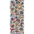 Vector doodle flowers seamless border. Zentangle style decorative element.