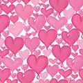 Vector doodle hearts seamless repeat pattern background design. Great for romantic Valentine Day cards, wrapping paper