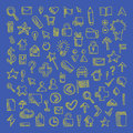 Vector Doodle Icons Set Royalty Free Stock Photo