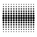 Vector Dot Pattern on White Background Royalty Free Stock Photo