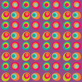 Vector dotted circle seamless pattern