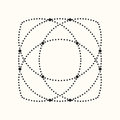 Vector dotted geometric shape.
