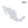 Vector dotted map of Mexico isolated on white background .