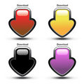 Vector download buttons Stock Photography