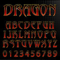 Vector dragon style font abstract illustration of a Royalty Free Stock Image