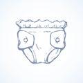 Vector drawing. Diaper