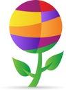 Abstract globe plant Royalty Free Stock Photo