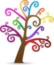 Colorful swirl tree