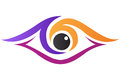 A vector drawing represents eye clinic logo design Royalty Free Stock Images