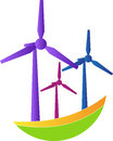 A vector drawing represents windmill design Royalty Free Stock Photography
