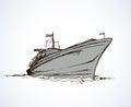 Vector drawing. Steamship