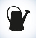 Vector drawing.  Watering can Royalty Free Stock Photo