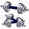 Vector dumbbells. Royalty Free Stock Image