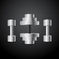 Vector dumbbells illustration of Stock Photo