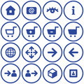 Vector e-commerce icons set Royalty Free Stock Photo