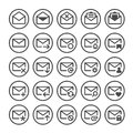 Vector e-mail icons. Royalty Free Stock Photo