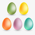 Vector easter eggs colourful illustration Stock Photography