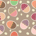 Vector Easter Seamless pattern with eggs Stock Photo