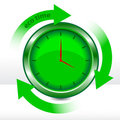Vector eco clock Royalty Free Stock Photo
