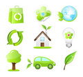 Vector eco friendly icons Stock Photos