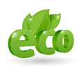 Vector eco icon green Stock Images